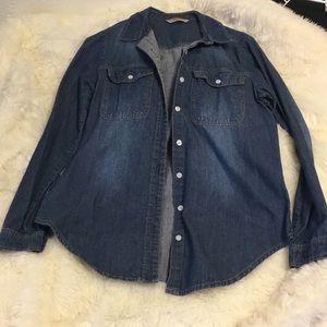 Highway Charlotte Russe Classic Denim Shirt Size M